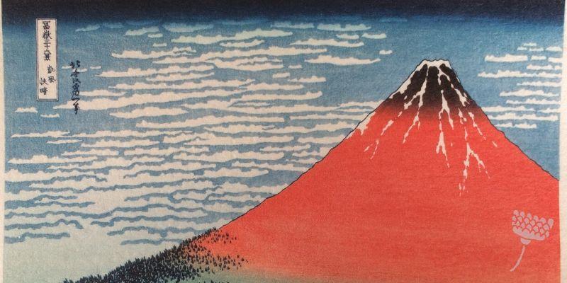 Japanse prent Mount Fuji