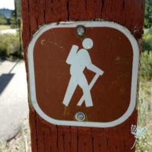 bruin bord wandelaar